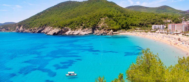Ibiza Cala de Sant Vicent caleta de san vicente beach turquoise water shutterstock_90032623