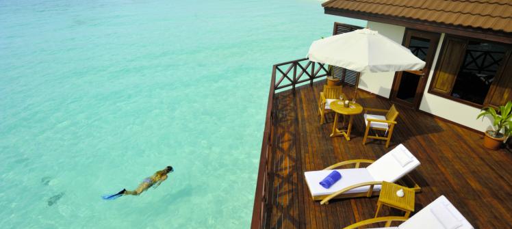Robinson Club Maldivas terraza