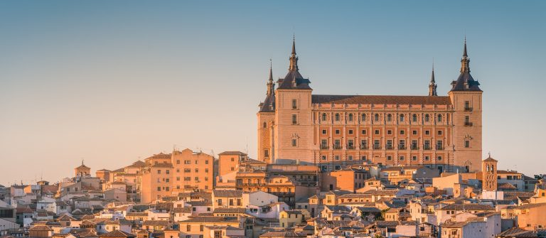 Toledo, Spain old town cityscape at the Alcazar. shutterstock_516331135