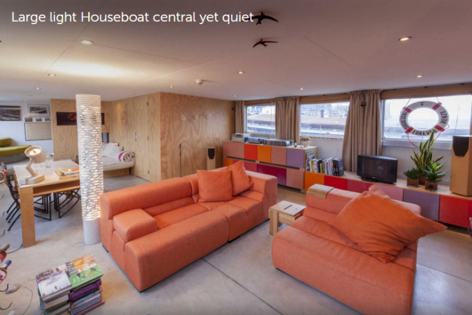 large houseboat