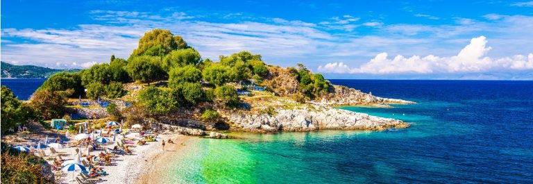 Beautiful view of the beach in an old village of Corfu Island shutterstock_327295634-2_small