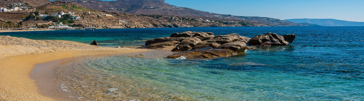 Kalafatis Bay beach on the island of Mykonos Greece shutterstock_62088181-2