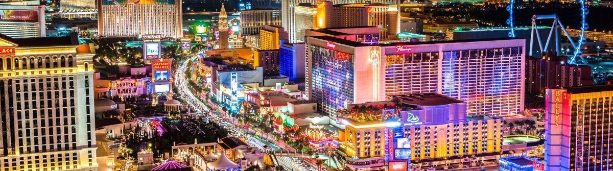 Las Vegas Strip at night – high vantage iStock_000082066557_Large-2