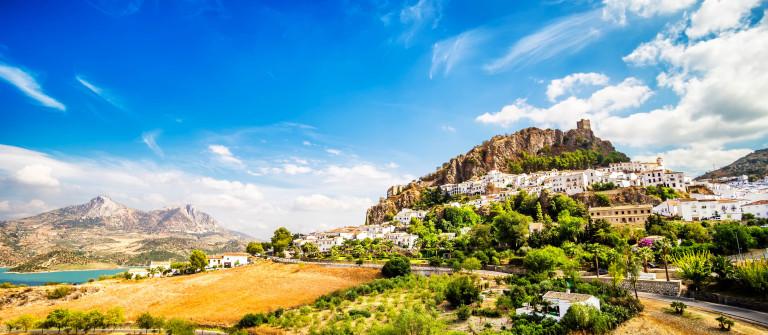 Zahara de la Sierra, beautiful town located in the Sierra de Gra