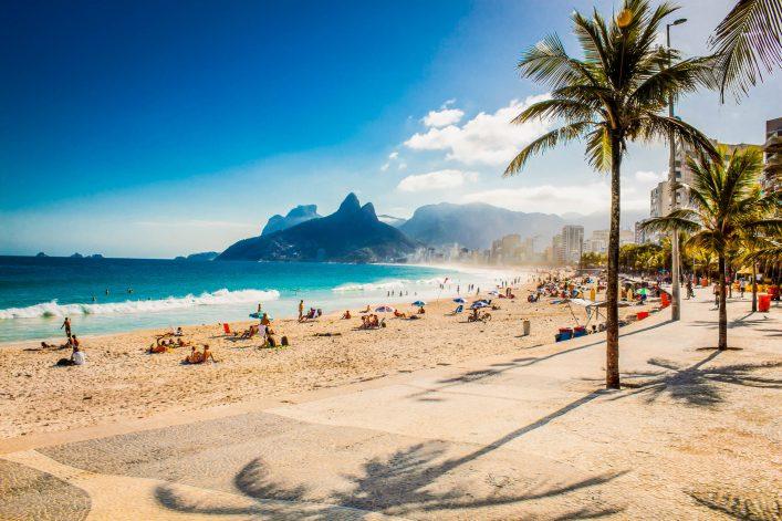 Mountain on Ipanema beach in Rio de Janeiro Brazil shutterstock_318248558-2