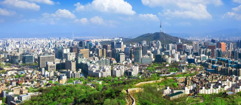 View of cityscape and Seoul tower in Seoul, South Korea._shutterstock_415029676