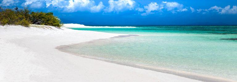beautiful untouched white sand beach in Anegada, British Virgin
