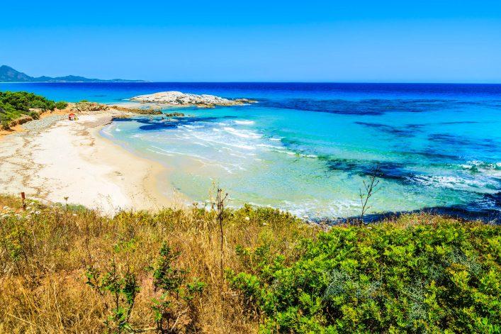 Costa Rei beach and turquoise sea view, Sardinia island, Italy shutterstock_196948277-2