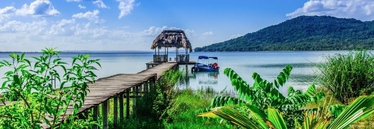 Beautiful pier at Lake Peten – Guatemala