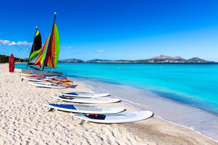 Platja de Muro Esperanza beach in Alcudia Bay Majorca Mallorca Spain shutterstock_270267866-2