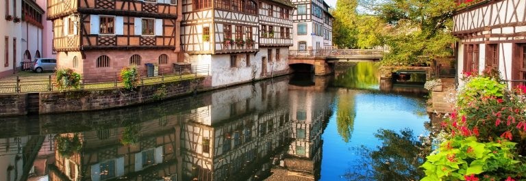 Traditional half-timbered houses in La Petite France, Strasbourg, Alsace, France_shutterstock_129048692