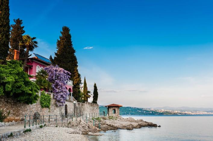 Adriatic Sea scenic view. Opatija town, popular tourist destination of Croatian coast shutterstock_76362202-2