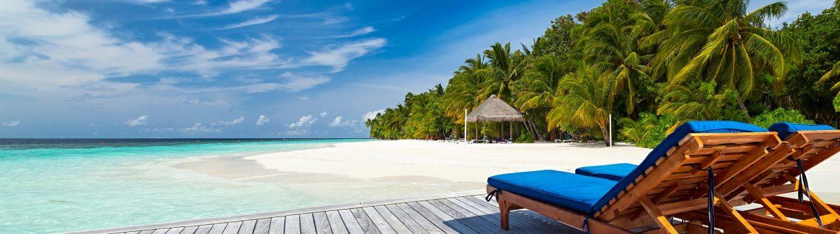 deckchairs on jetty