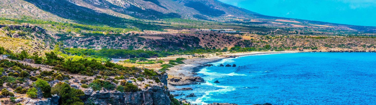 Mediterranean Sea And Rocky Coast Of Crete, Greece shutterstock_269175824-2