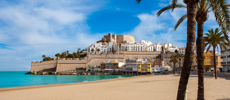 Peniscola Castle and beach in Castellon Valencian community of spain shutterstock_174368507-2