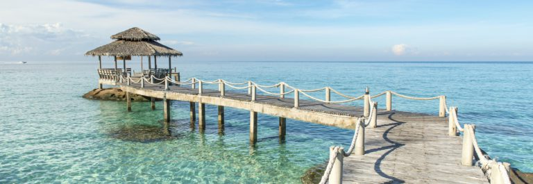 Wooden pier in Phuket, Thailand