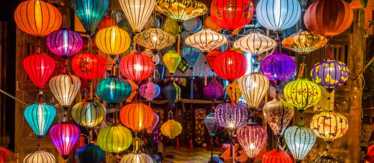 Asia lantern in Hoi An city, Vietnam