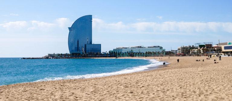 Beach at Barcelona. Spain