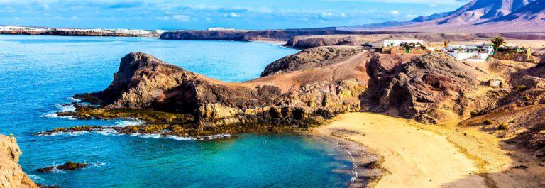 Playa de Papagayo (Parrot's beach) on Lanzarote, Canary islands,