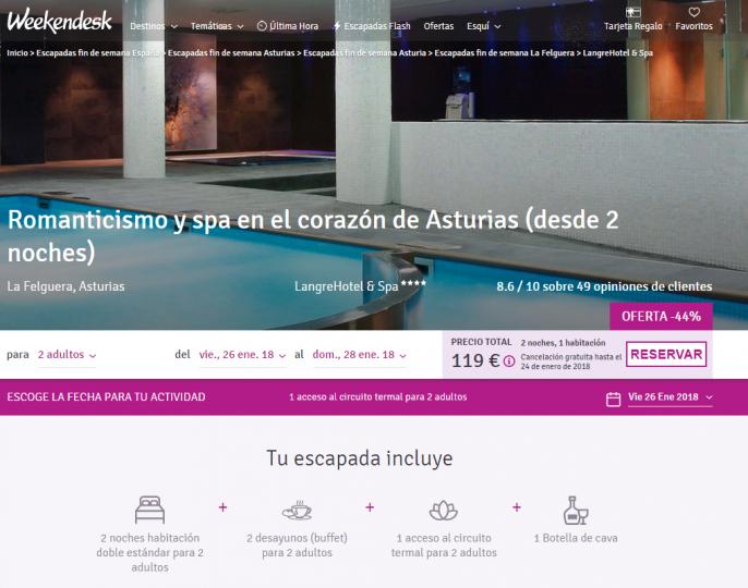hotel con spa en asturias