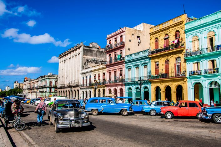 Chevrolet cars are used as taxi on the street of Old Havana, Havana, Cuba shutterstock_328481705 EDITORIAL ONLY Hang Dinh-2