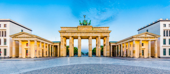 Brandenburg Gate panorama, Berlin, Germany