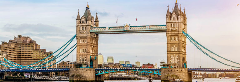 London Tower Bridge at River Thames