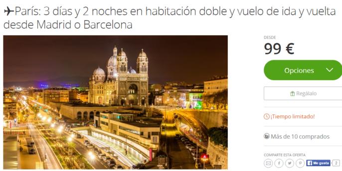 Viaje a par s con vuelos desde madrid o barcelona y hotel for Vuelos de paris a barcelona