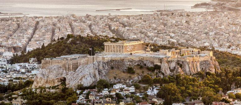 Athens Acropolis at Sunset Greece iStock_000043774360_Large