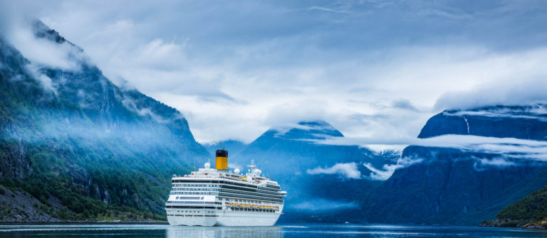 Cruise Ship, Cruise Liners On Hardanger fjorden, Norway shutterstock_334306013-2