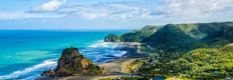 Piha beach which is located at the West Coast in Auckland,New Zealand shutterstock_360145958-2_pix2000