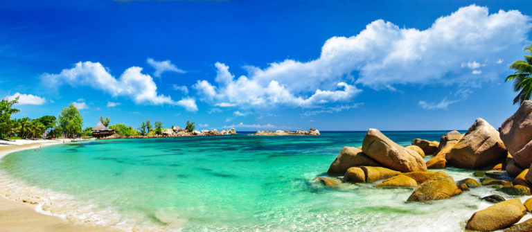 Seychelles tropical beach panorama iStock_000025927738_Large-2