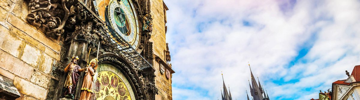 Astronomical clock in Old Town Square in Prague iStock_000088542227_Large-2