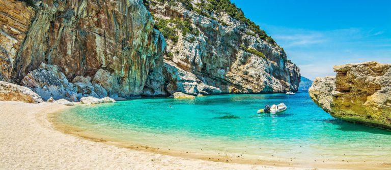 Cala Mariolu on a clear day, Sardinia Italien Italy shutterstock_197050478-2