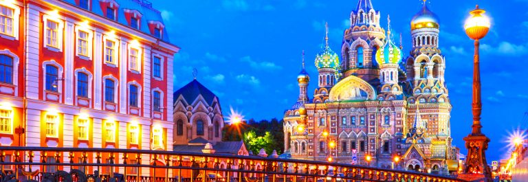 Russia, St. Petersburg. Night look. Cathedral Church shutterstock_207828259-2