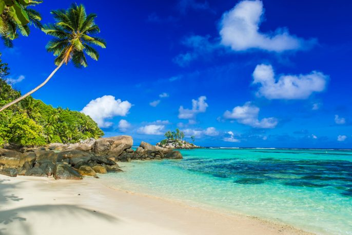 Beautiful beach – Anse aux Pins – Mahe, Seychelles
