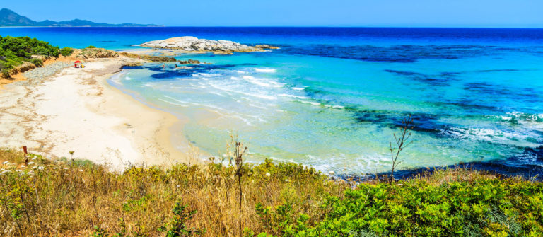 Costa Rei beach and turquoise sea view, Sardinia island, Italy shutterstock_196948277-2