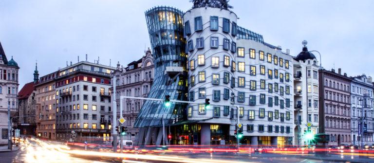 Czech republic – metropolises Prague – modern architecture – Dancing home shutterstock_42848137-2