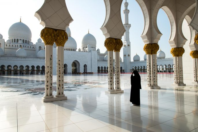 Woman at Sheikh Zayed Grand Mosque, Abu Dhabi