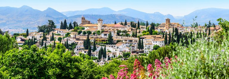 General view old city Of Granada, Spain