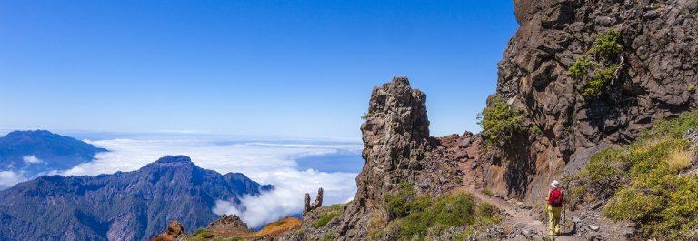 Footpath in the Caldera de Taburiente National Park, La Palma