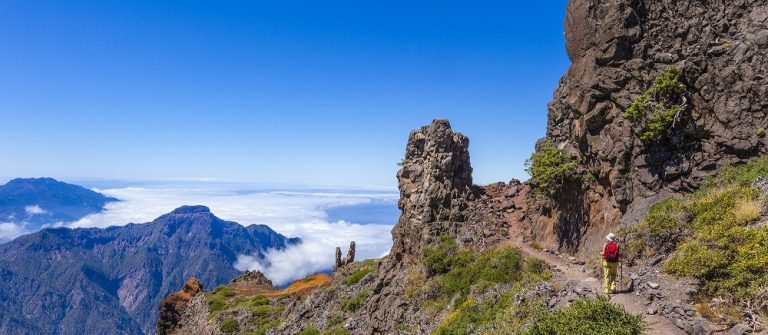 Footpath in the Caldera de Taburiente National Park, La Palma