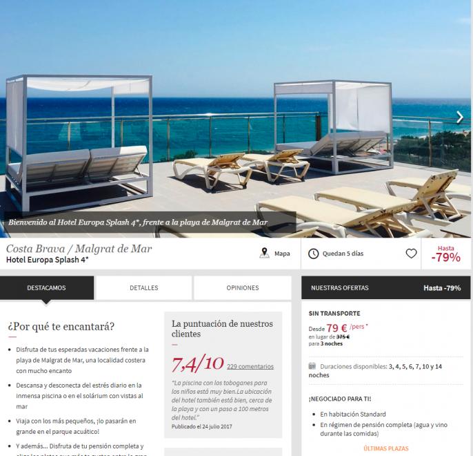hotel en malgrat de mar