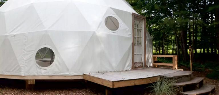 Geo Dome on Farm Upstate Catskills7