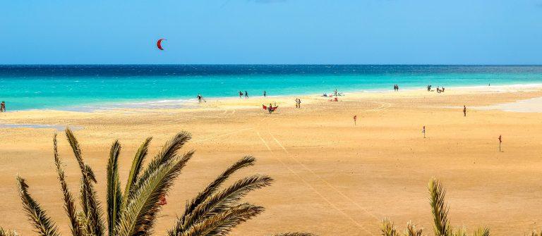 Sotavento beach in Fuerteventura, Canary Islands