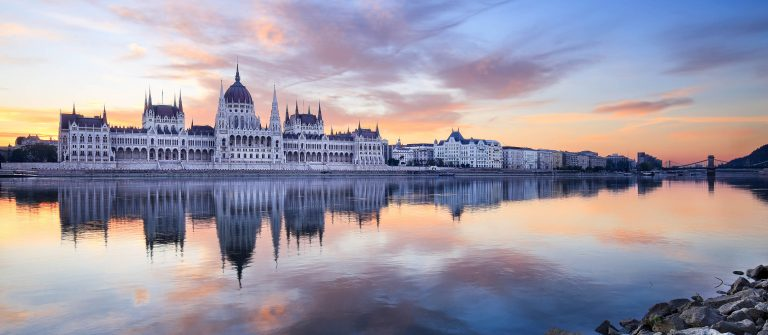 The Hungarian Parliament at sunrise