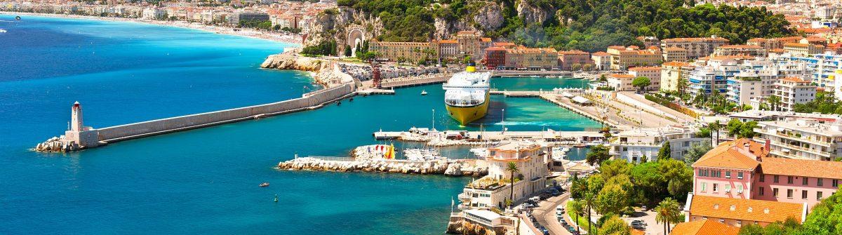 View of Nice, mediterranean resort, Cote d'Azur, France_shutterstock_93856414