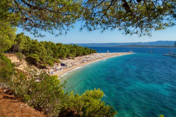 La isla de Brac en Croacia Zlatni Rat