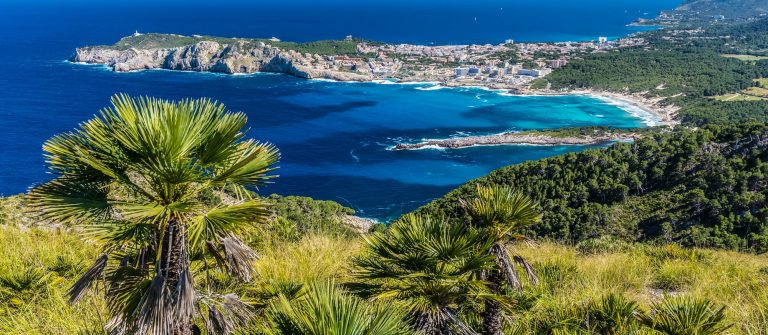 Cala Agulla and beautiful coast at Cala Ratjada of Mallorca, Spain shutterstock_432078658-2