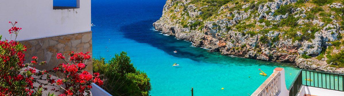 Holiday villa overlooking Cala Porter Menorca island, Spain shutterstock_567838465-2